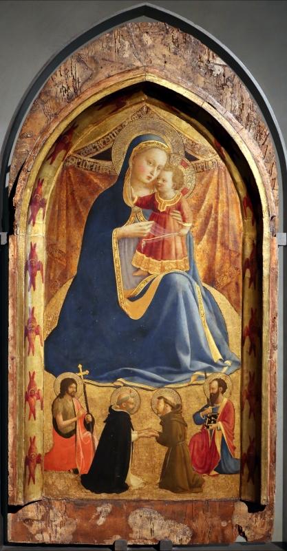Beato angelico, madonna dell'umiltà e santi g. battista, domenico, francesco e paolo, 1425-30, 01 - Sailko - Parma (PR)