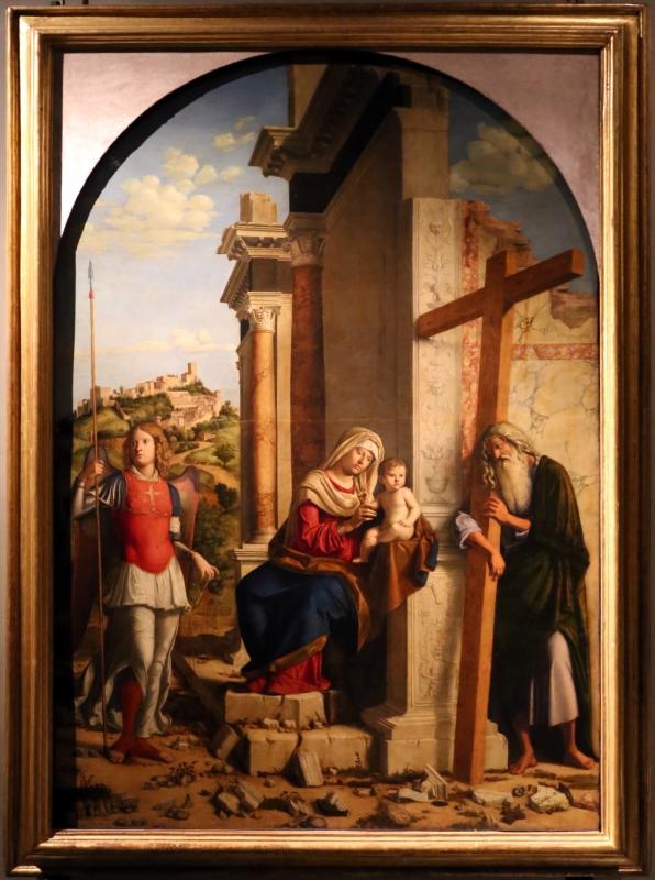 Cima da conegliano, madonna col bambino tra i ss. michele e andrea, 1498-1500, 01 - Sailko - Parma (PR)
