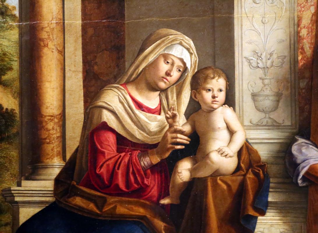 Cima da conegliano, madonna col bambino tra i ss. michele e andrea, 1498-1500, 03 - Sailko - Parma (PR)