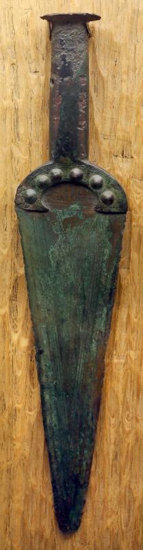 Età del bronzo, pugnale a manico fuso di tipo rodano - Sailko - Parma (PR)