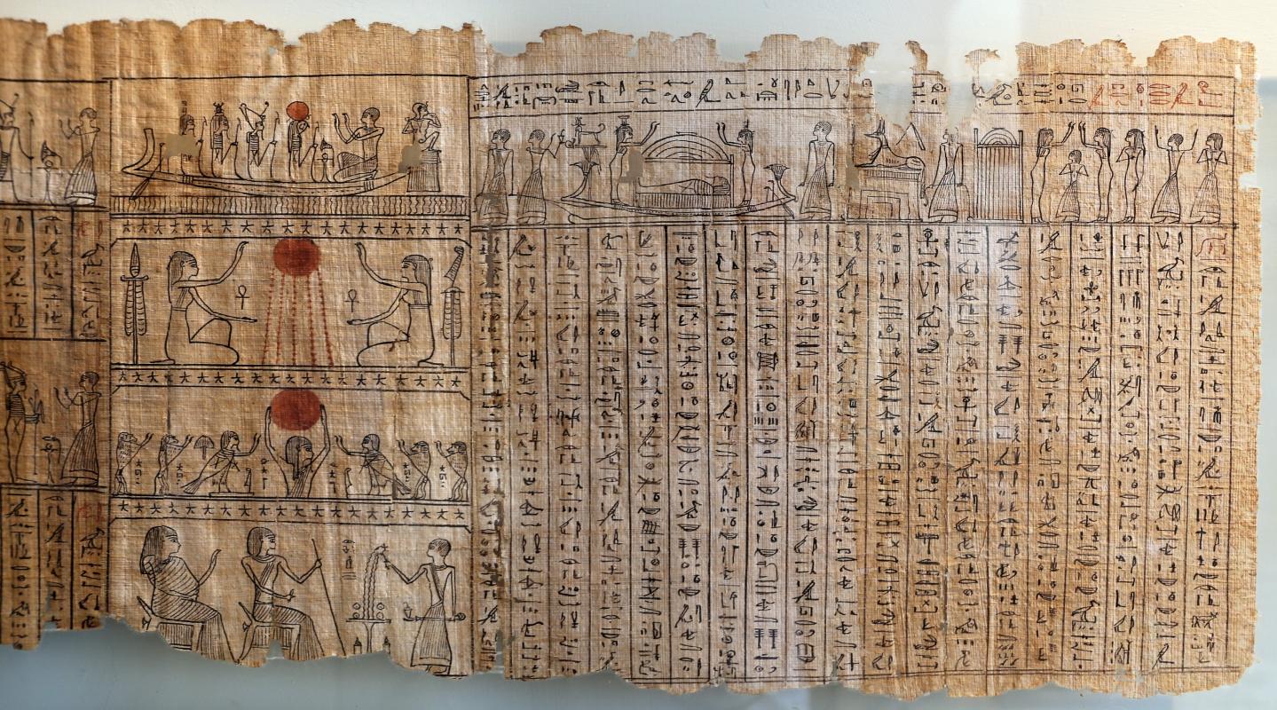 II dominazione persiana-epoca tolemaica, libro dei morti di harimuthes, da tebe, 04 - Sailko - Parma (PR)