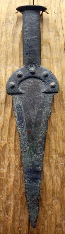 Età del bronzo, pugnale a manico fuso di tipo unetice - Sailko - Parma (PR)