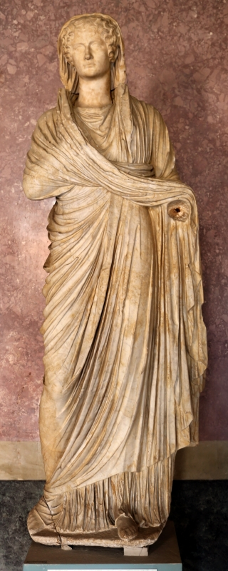 Statue della famiglia giulio claudia, dal foro di veleia, 14-54 dc ca., agrippina minore - Sailko - Parma (PR)