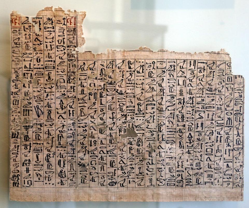 Xviii dinastia, libro dei morti di amenhotep, da tebe, 1580-1320 ac ca. 02 - Sailko - Parma (PR)