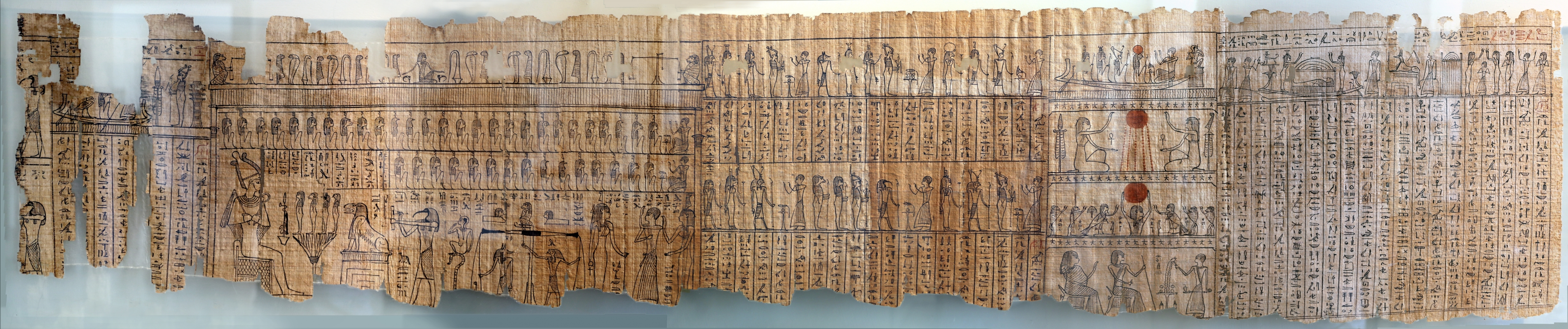 II dominazione persiana-epoca tolemaica, libro dei morti di harimuthes, da tebe, 00 - Sailko - Parma (PR)