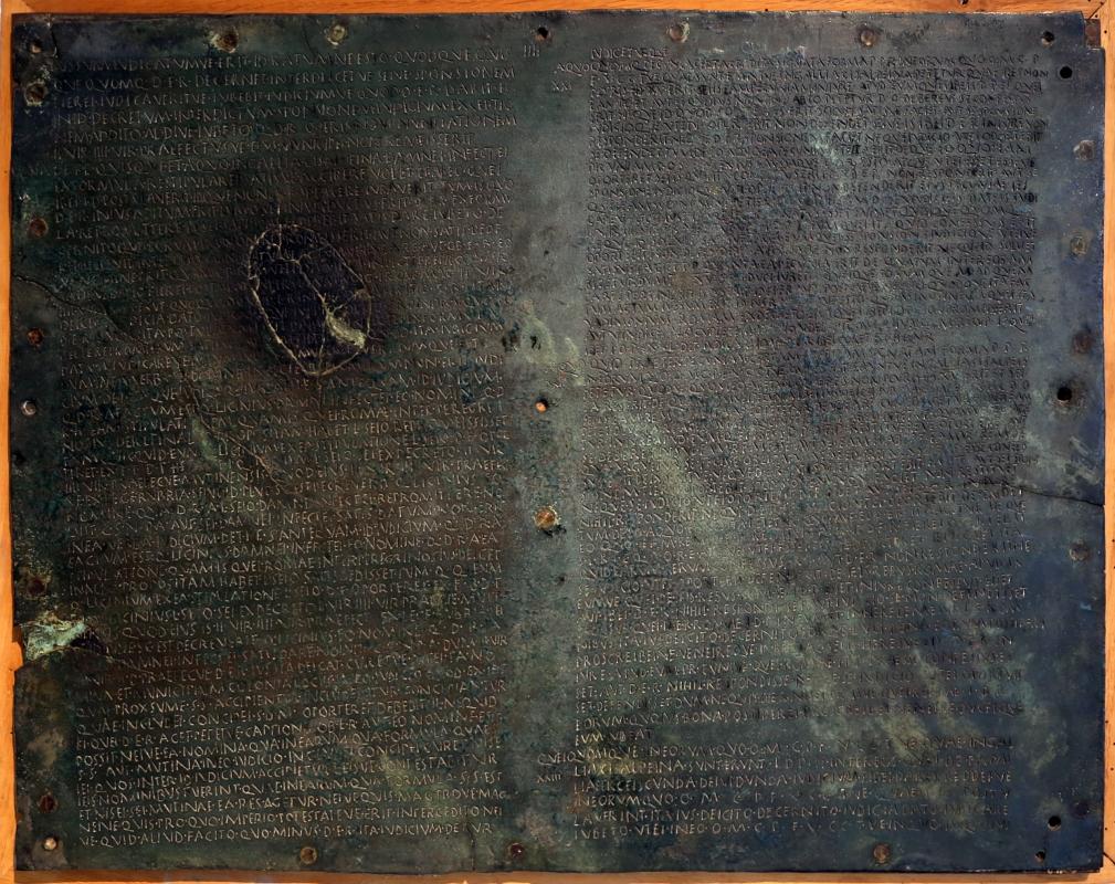 Lex della gallia cisalpina, da veleia, 49 a.c. ca - Sailko - Parma (PR)