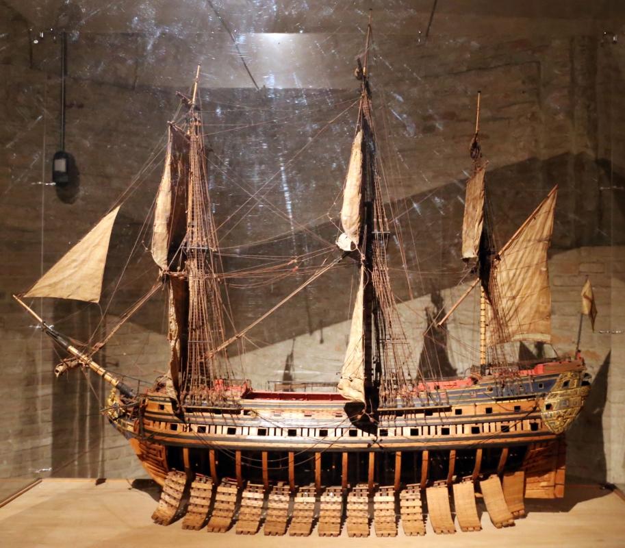 Jean-françois gautier, modello di nave detta le prince de parme, tolone 1761, usato per educare il futuro duca don ferdinando - Sailko - Parma (PR)