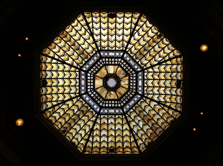 Salsomaggiore, ex-grand hotel, interno, salone moresco, di galileo chini, 07 cupola con vetrate 2 - Sailko - Salsomaggiore Terme (PR)