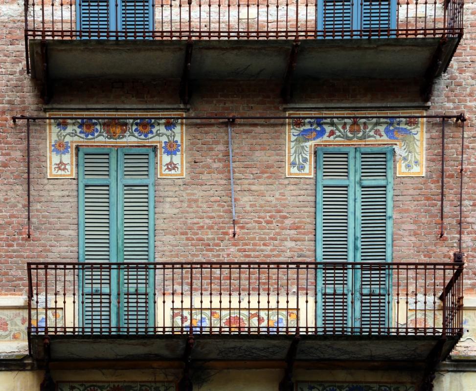Salsomaggiore, ex-grand hotel, esterno 04 decorazioni di galileo chini 1 - Sailko - Salsomaggiore Terme (PR)