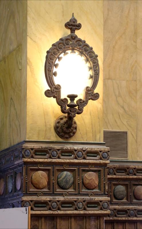 Salsomaggiore, ex-grand hotel, interno, salone moresco, di galileo chini, lampada moresca - Sailko - Salsomaggiore Terme (PR)