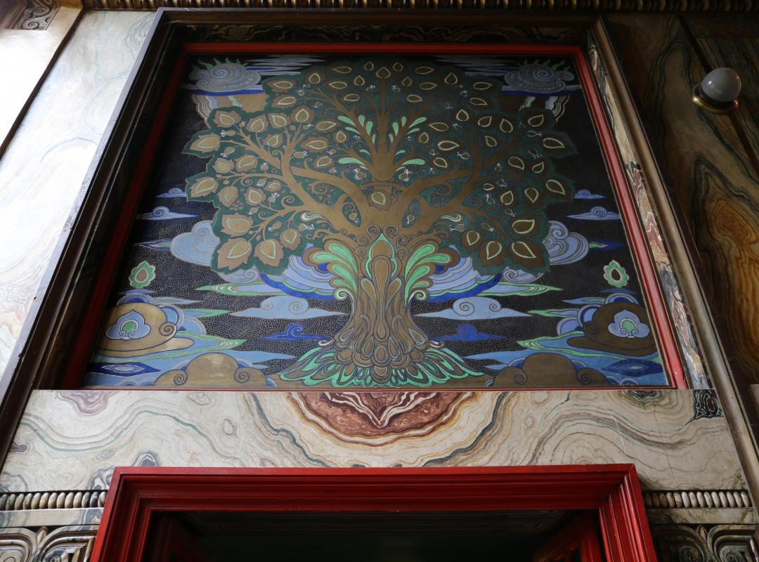 Salsomaggiore, ex-grand hotel, interno, taverna rossa, di galileo chini, 00 scala di accesso, albero 01 - Sailko - Salsomaggiore Terme (PR)