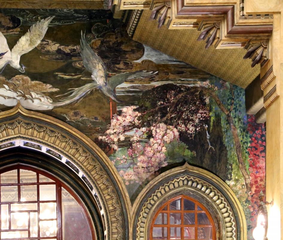 Salsomaggiore, ex-grand hotel, interno, salone moresco, affreschi galileo chini con rivisitazione di Leda e il cigno 06 - Sailko - Salsomaggiore Terme (PR)
