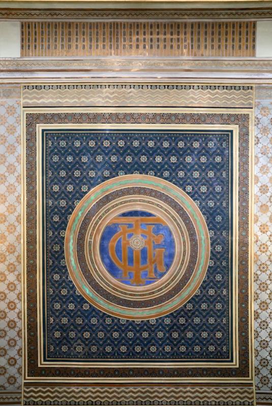 Salsomaggiore, ex-grand hotel, interno, monogramma del grand hotel sul soffittod ella hall - Sailko - Salsomaggiore Terme (PR)
