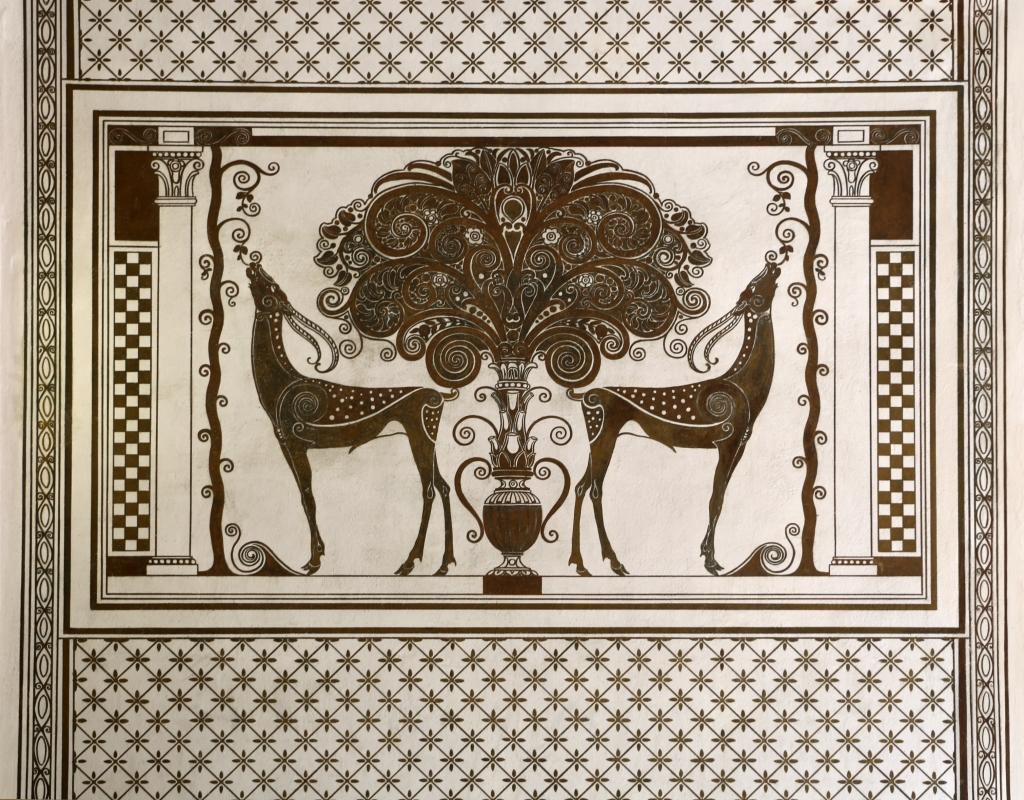 Salsomaggiore, ex-grand hotel, interno, monocromi di galileo chini, uccelli del paradiso 03 - Sailko - Salsomaggiore Terme (PR)