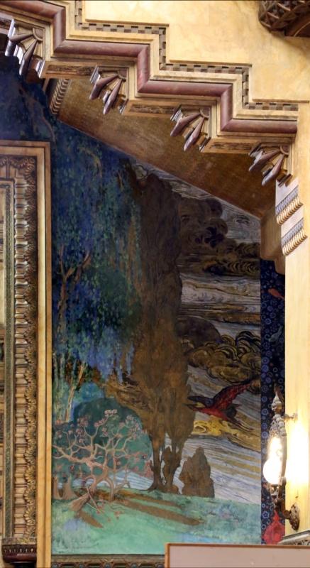 Salsomaggiore, ex-grand hotel, interno, salone moresco, affreschi galileo chini con rivisitazione di Leda e il cigno 13 - Sailko - Salsomaggiore Terme (PR)