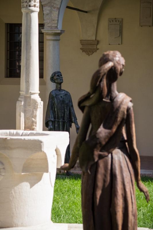 Museo Dantesco, dettaglio del chiostro - Maurizio Melandri - Ravenna (RA)