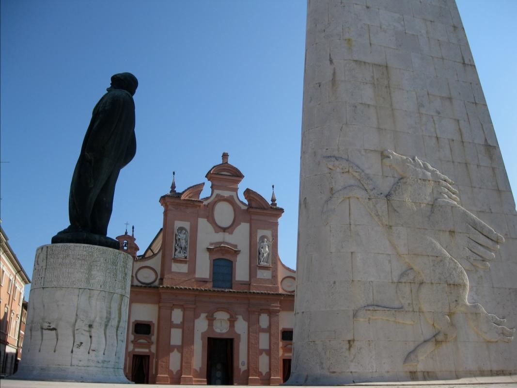Veduta della Chiesa del Suffragio dal Monumento di Baracca - Sofiadiviola - Lugo (RA)