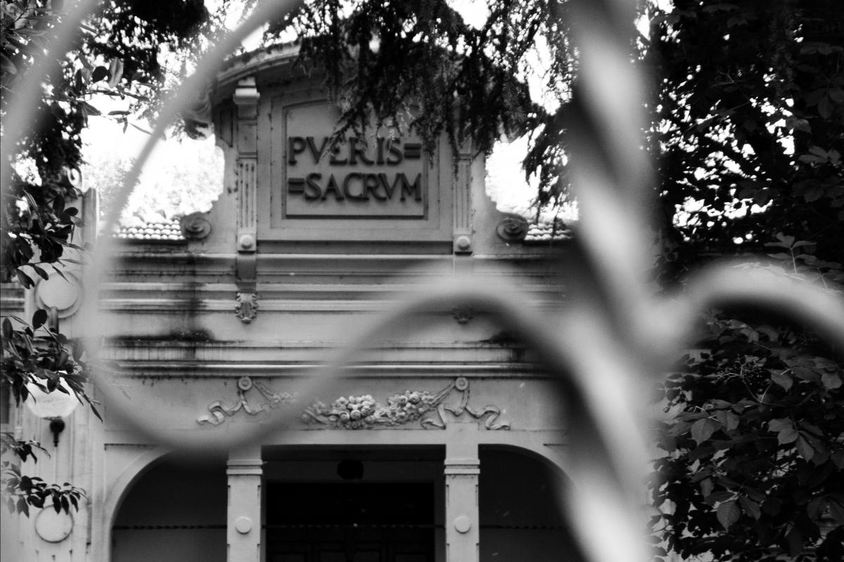 Centro Culturale Carlo Venturini - Biblioteca - particolare facciata - Laurina 79 - Massa Lombarda (RA)