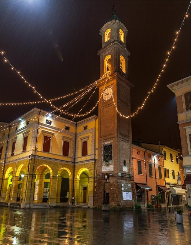 Piazza Massa Lombarda - Torre dell'Orologio e portici - Massimo Pellicciardi - Massa Lombarda (RA)