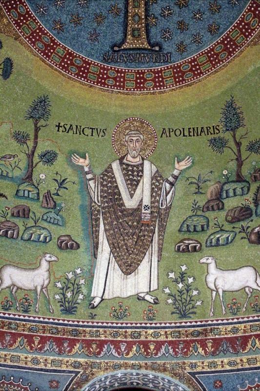 Sant'apollinare in classe, mosaici del catino, trasfigurazione simbolica, VI secolo, 15 s. apollinare - Sailko - Ravenna (RA)