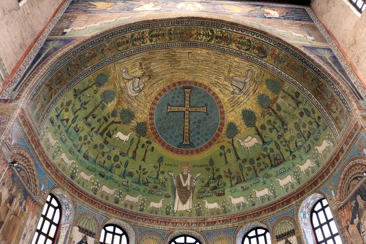 Sant'apollinare in classe, mosaici del catino, trasfigurazione simbolica, VI secolo, 01 - Sailko - Ravenna (RA)
