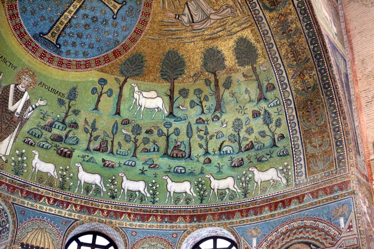 Sant'apollinare in classe, mosaici del catino, trasfigurazione simbolica, VI secolo, 11 - Sailko - Ravenna (RA)
