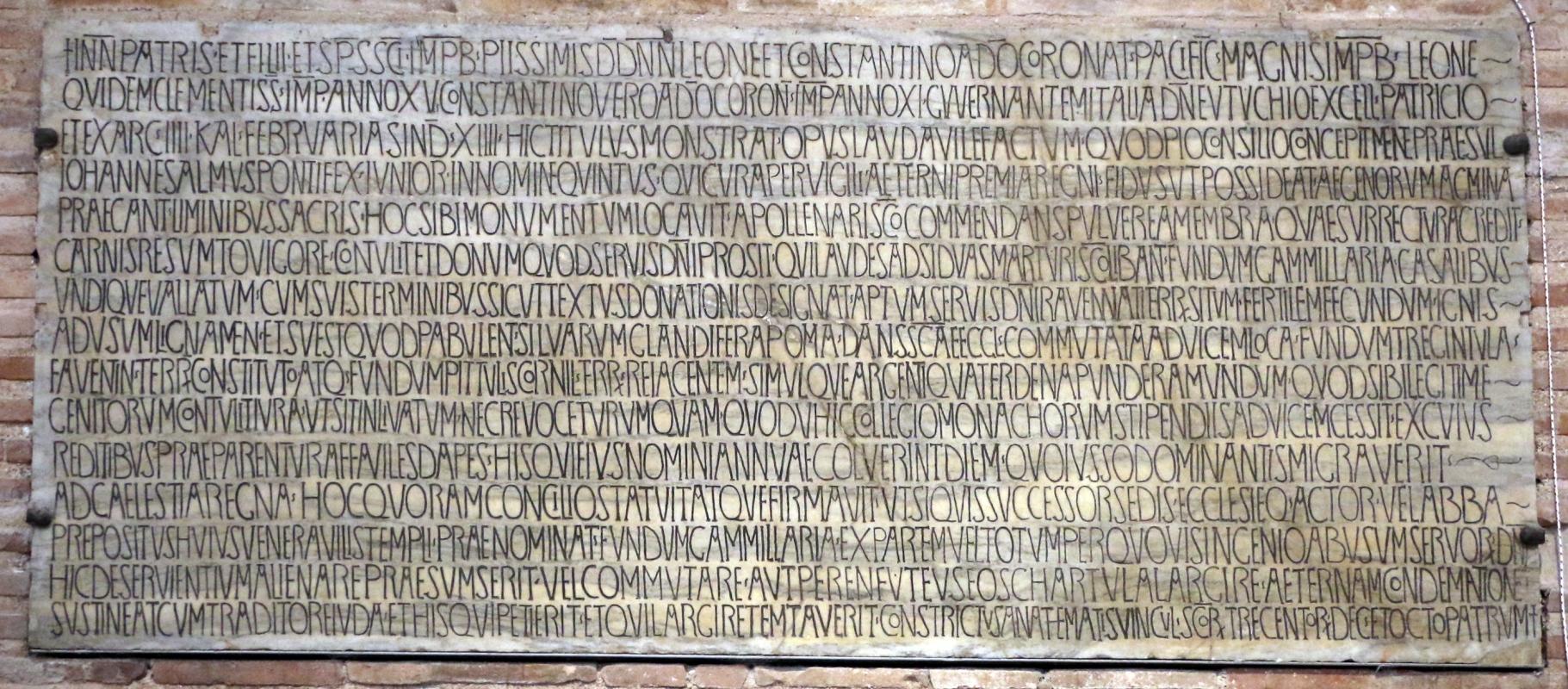 Sant'apollinare in classe, interno, epigrafe - Sailko - Ravenna (RA)