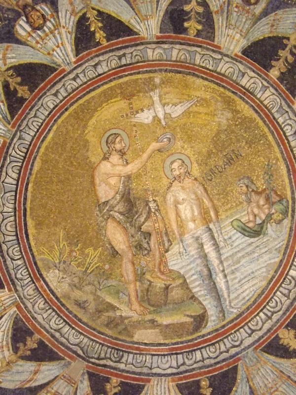 Battesimo di Cristo nella volta del battistero - Cristina Cumbo - Ravenna (RA)