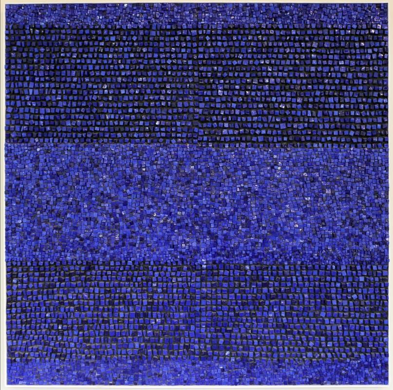 Lino linossi, blu oltremare, 2002 - Sailko - Ravenna (RA)