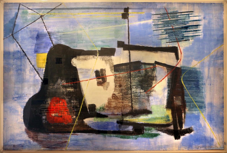 Giuseppe santomaso, il muro del pescatore, 1954 - Sailko - Ravenna (RA)