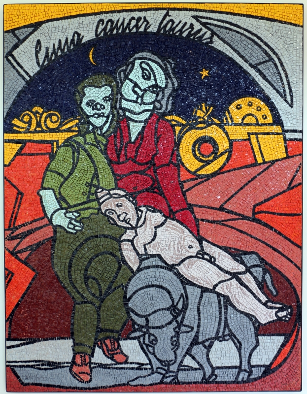 Marco santi su dis. di valerio adami, zodiaco, 2013 - Sailko - Ravenna (RA)