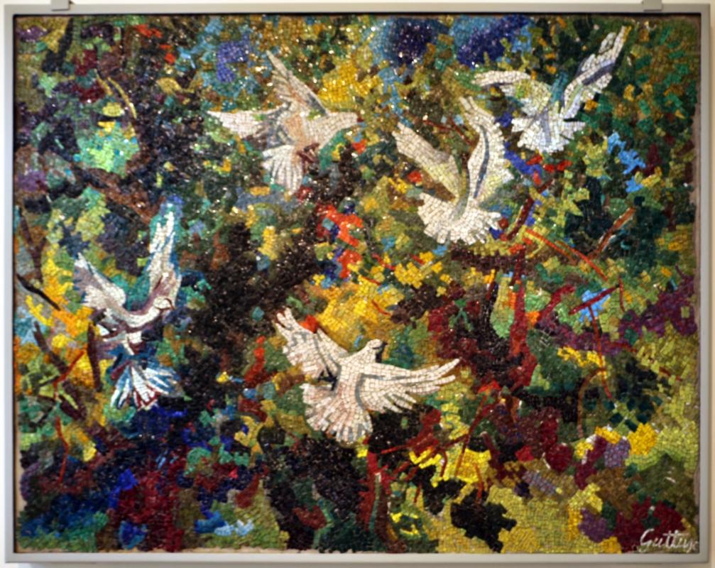 Romolo papa su dis. di renato guttuso, volo di colombe sull'aranceto, 1958 - Sailko - Ravenna (RA)