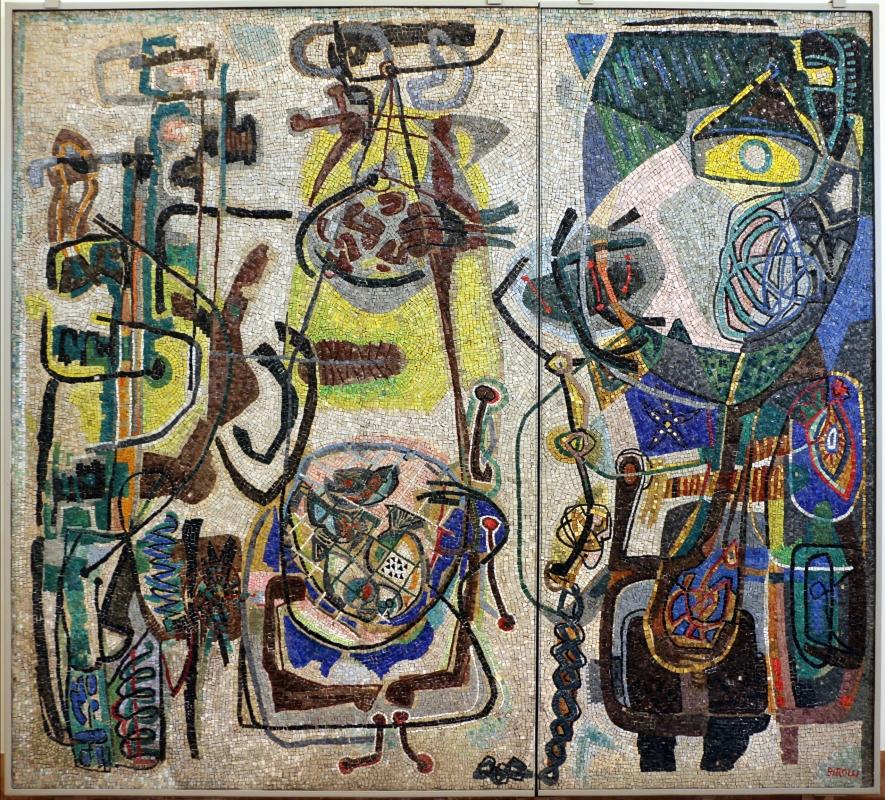 Renato signorini su dis. di renato birolli, composizione con elementi marini, 1955 - Sailko - Ravenna (RA)