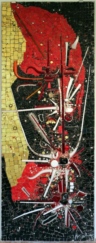 Gruppo mosaicisti su dis. di georges mathieu, omaggio a odoacre, 1959 - Sailko - Ravenna (RA)