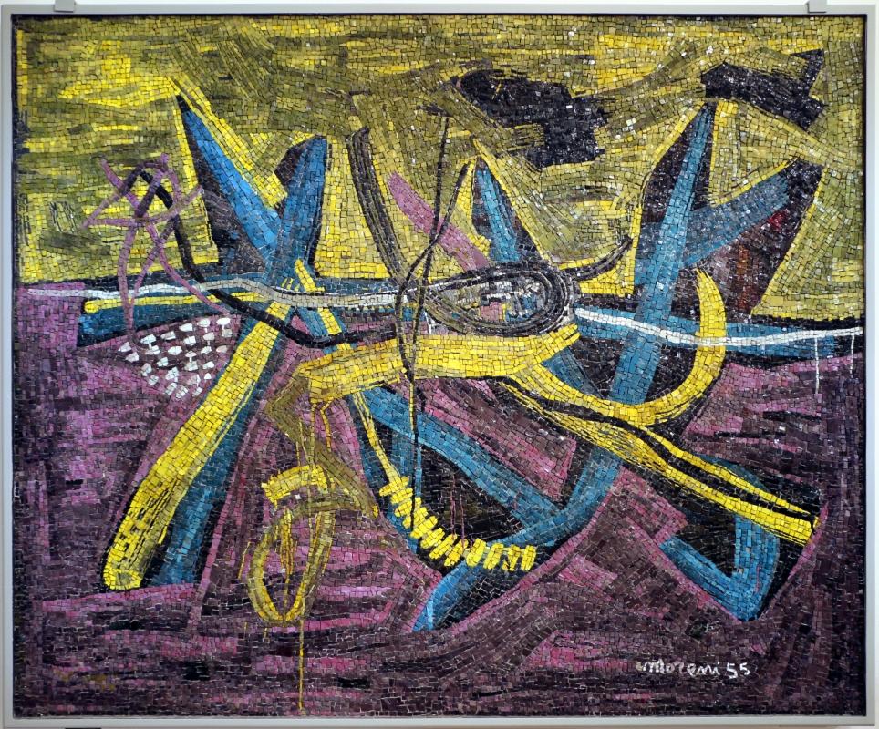 Libera musiani su dis. di mattia moreni, senza titolo, 1955 - Sailko - Ravenna (RA)