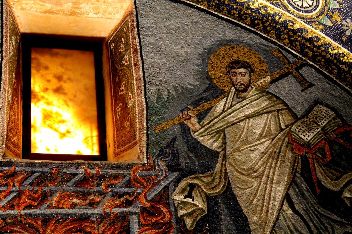 Lunetta di San Lorenzo martire, Mausoleo di Galla Placidia, Ravenna - Sofia Stefani - Ravenna (RA)