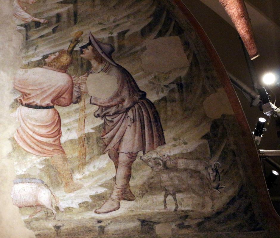 Pietro da rimini e bottega, affreschi dalla chiesa di s. chiara a ravenna, 1310-20 ca., natività e annuncio ai pastori 06 - Sailko - Ravenna (RA)