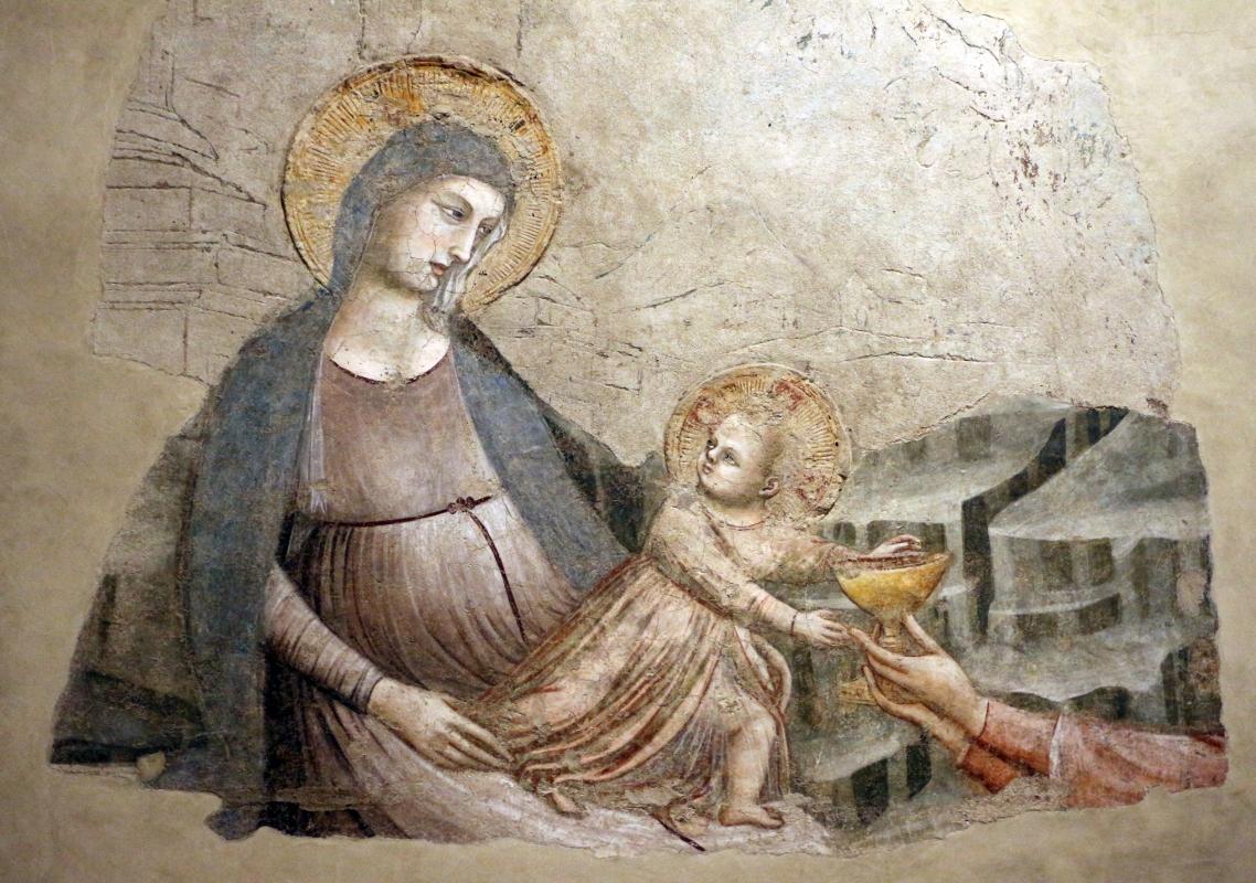Pietro da rimini e bottega, affreschi dalla chiesa di s. chiara a ravenna, 1310-20 ca., adorazione dei magi 02 - Sailko - Ravenna (RA)