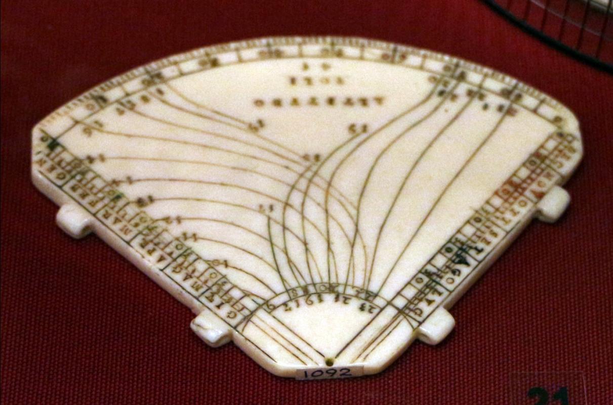 Italia, orologio solare di altezza a quadrante, 1590 ca - Sailko - Ravenna (RA)