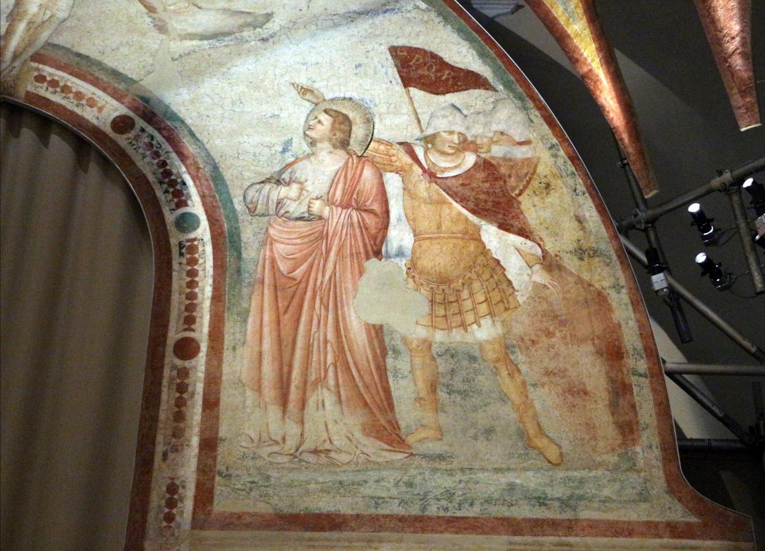 Pietro da rimini e bottega, affreschi dalla chiesa di s. chiara a ravenna, 1310-20 ca., crocifissione 04 - Sailko - Ravenna (RA)