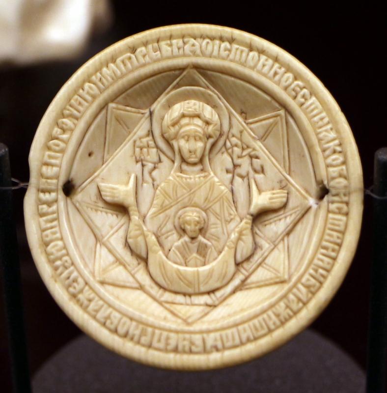 Russia, valva di panagiario-encolpio, xvii secolo - Sailko - Ravenna (RA)