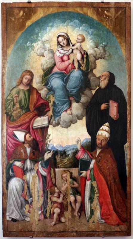 Girolamo marchesi da cotignola, madonna col bambino e santi, 1510 ca - Sailko - Ravenna (RA)