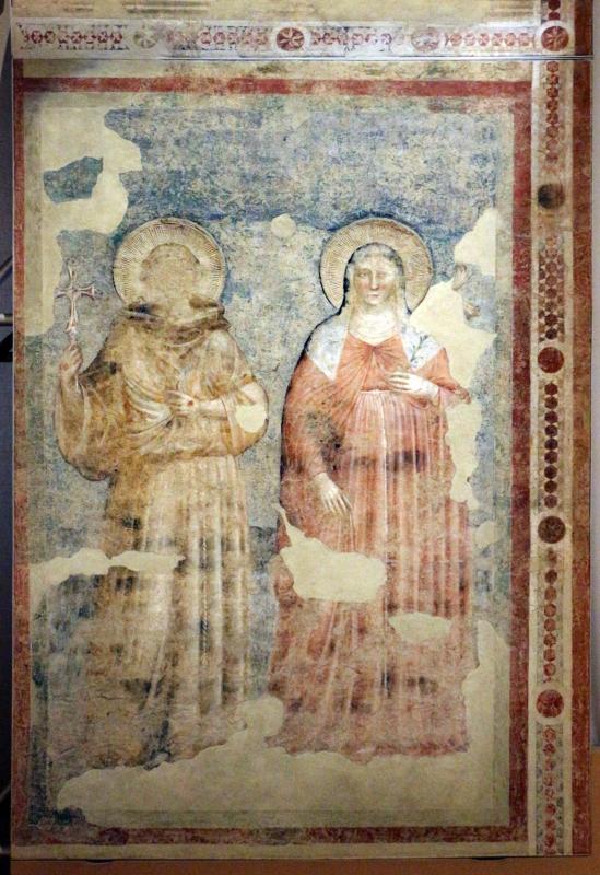 Pietro da rimini e bottega, affreschi dalla chiesa di s. chiara a ravenna, 1310-20 ca., ss. francesco e chiara - Sailko - Ravenna (RA)