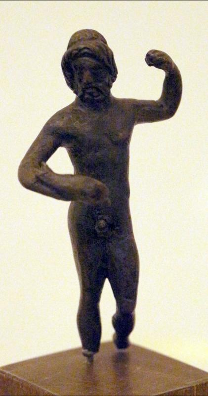 Arte romana imperiale, bronzetti da larario, nettuno - Sailko - Ravenna (RA)