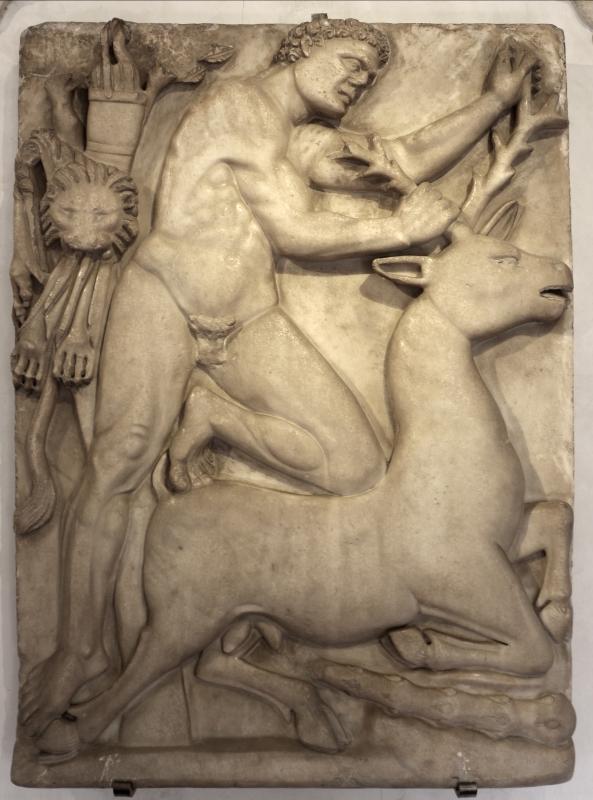 Rilievo con eracle e la cerva di cerinea, VI secolo - Sailko - Ravenna (RA)