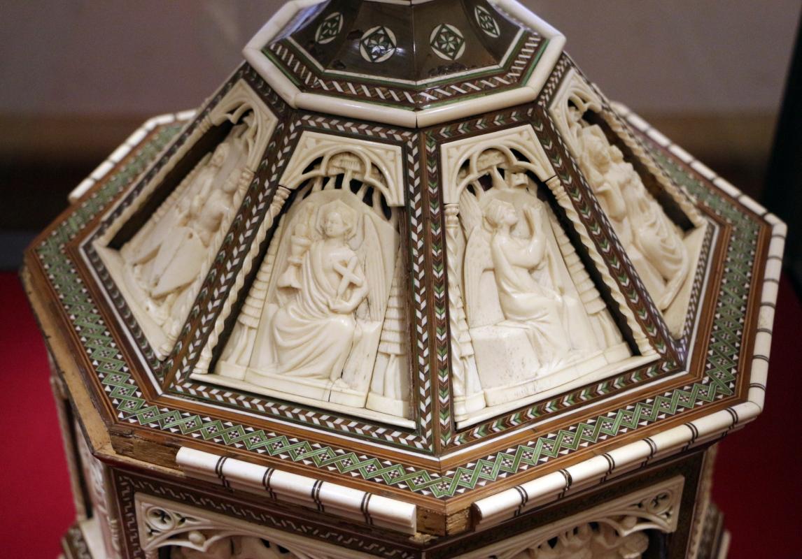 Baldassarre degli embriachi (bottega), cofanetto con scene delle leggenda di helias, 1390-1410 ca. 02 - Sailko - Ravenna (RA)