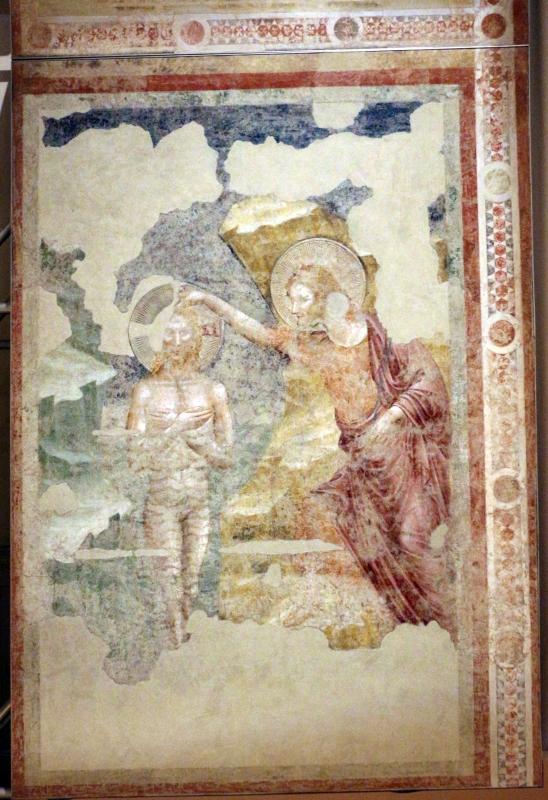 Pietro da rimini e bottega, affreschi dalla chiesa di s. chiara a ravenna, 1310-20 ca., battesimo di cristo 01 - Sailko - Ravenna (RA)