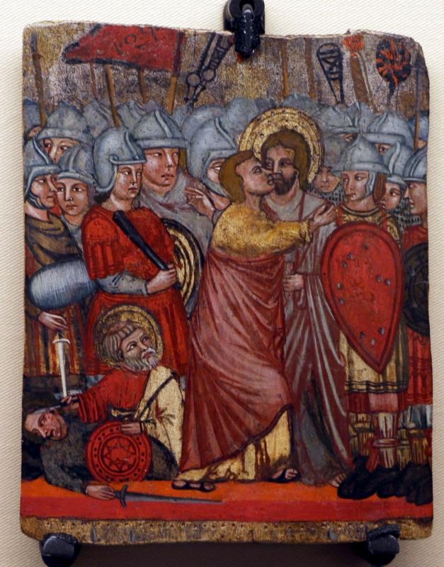 Artista bolognese, bacio di giuda, 1300-15 ca - Sailko - Ravenna (RA)