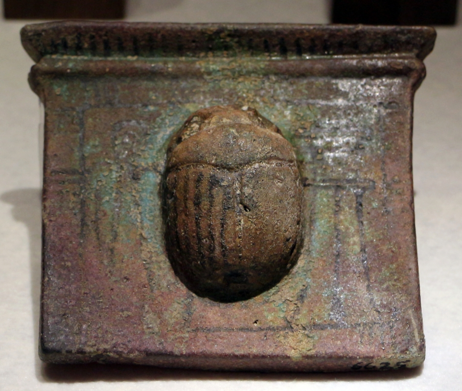 Egitto, amuleto a scarabeo in pietra, VIII-IV secolo ac. ca - Sailko - Ravenna (RA)