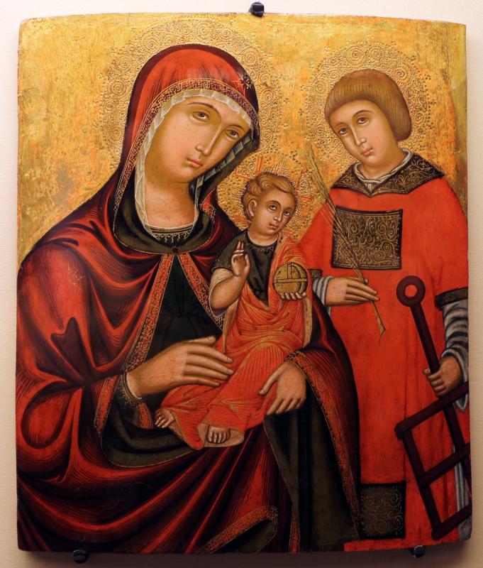 Pittore cretese, madre della consolazione e s. lorenzo, xvi-xvii secolo - Sailko - Ravenna (RA)
